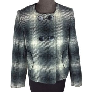 Nygard Collection Double Breasted Plaid Coat 6